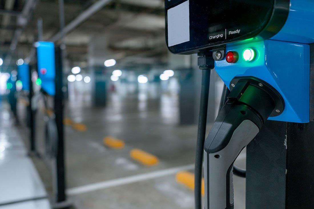 punto de recarga de coche electrico